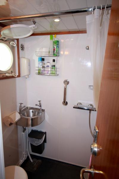 Upper deck shower & toilet