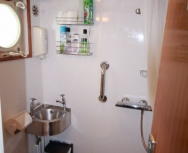 Upper deck shower & toilet