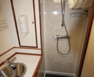Lower shower & toilet