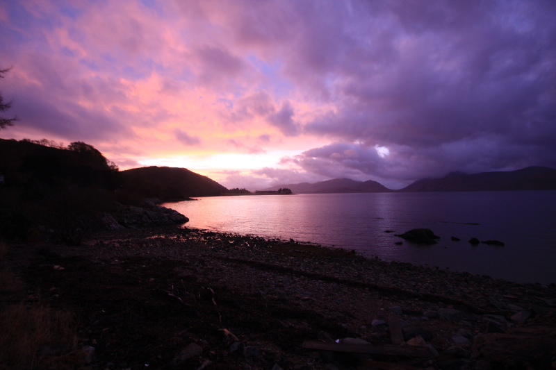 January sunset, Loch Linne - mark henrys
