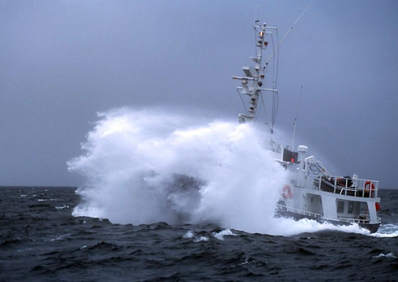 hjalmar bjorge in a stormy sea - chris gomersall