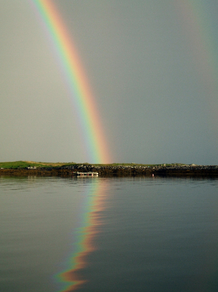 rainbow at leverburgh - lindsay wilson