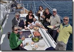 al fresco lunch on zuza 2 - heather mcneill
