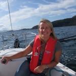 Michelle sailing in Lochalsh