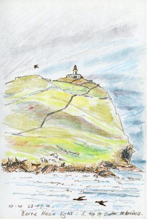 Linda Moss illustration Barra Head