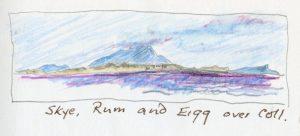 Linda Moss illustration Skye Rum and Eigg