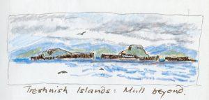 Linda Moss illustration Treshnish isles