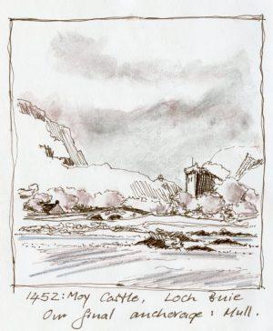 Linda Moss illustration Moy Castle