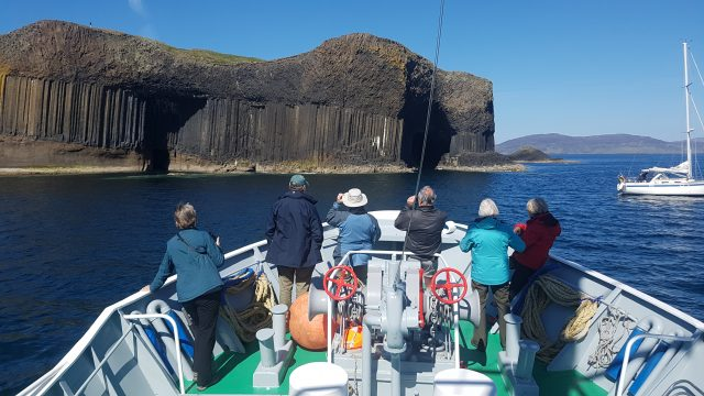 Arriving at Staffa by Craig Robinson