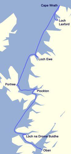 01 Map Northbound NW Coast cruise By Tony Broadbent