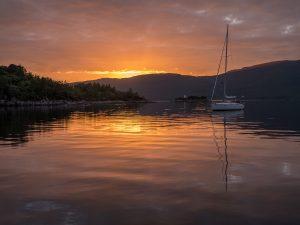 05 Sunset at Plockton by Hilary Broadbent