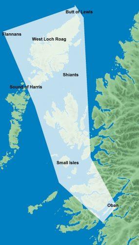 Flannans cruising area map